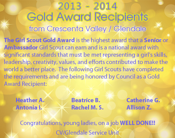 Gold Award Recipients