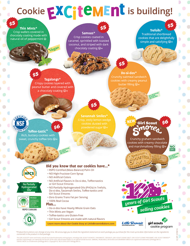 2019 girl scout cookie program crescenta valley girl