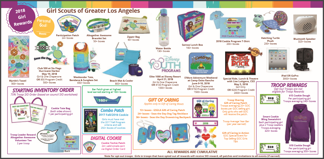 2018 girl scout cookie program crescenta valley girl